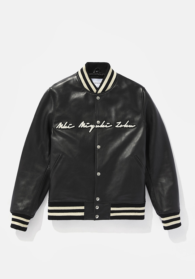 mki full leather stadium varsity