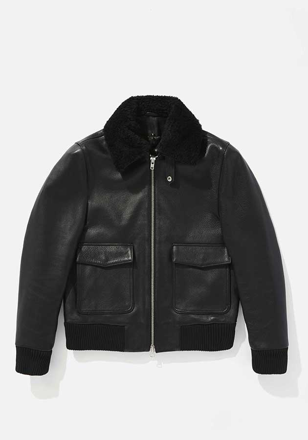 mki leather flight jacket