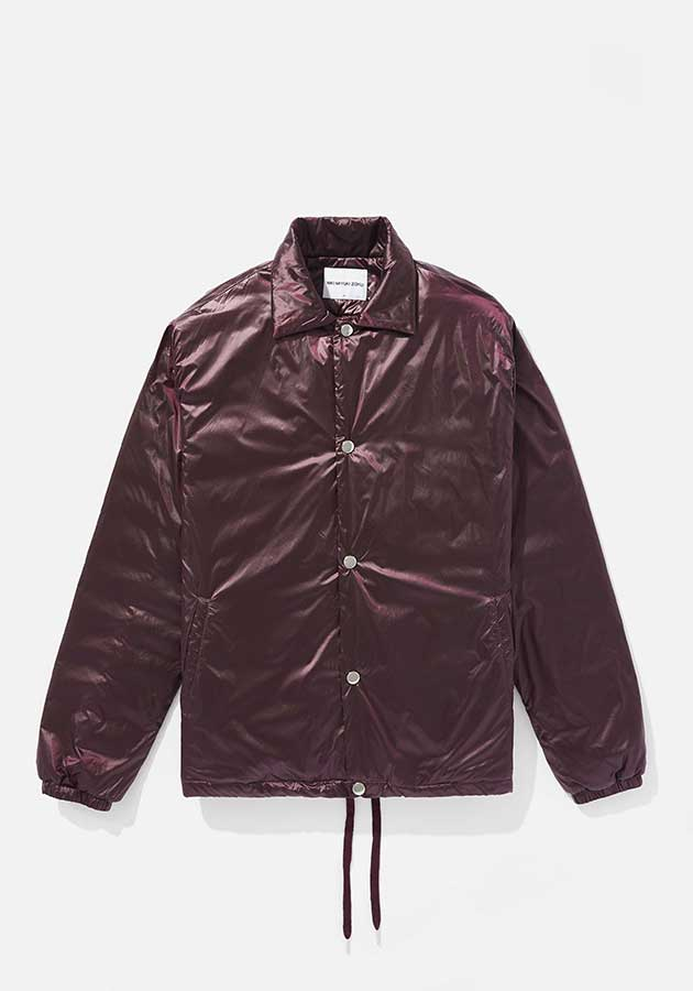 mki padded nylon coach jacket