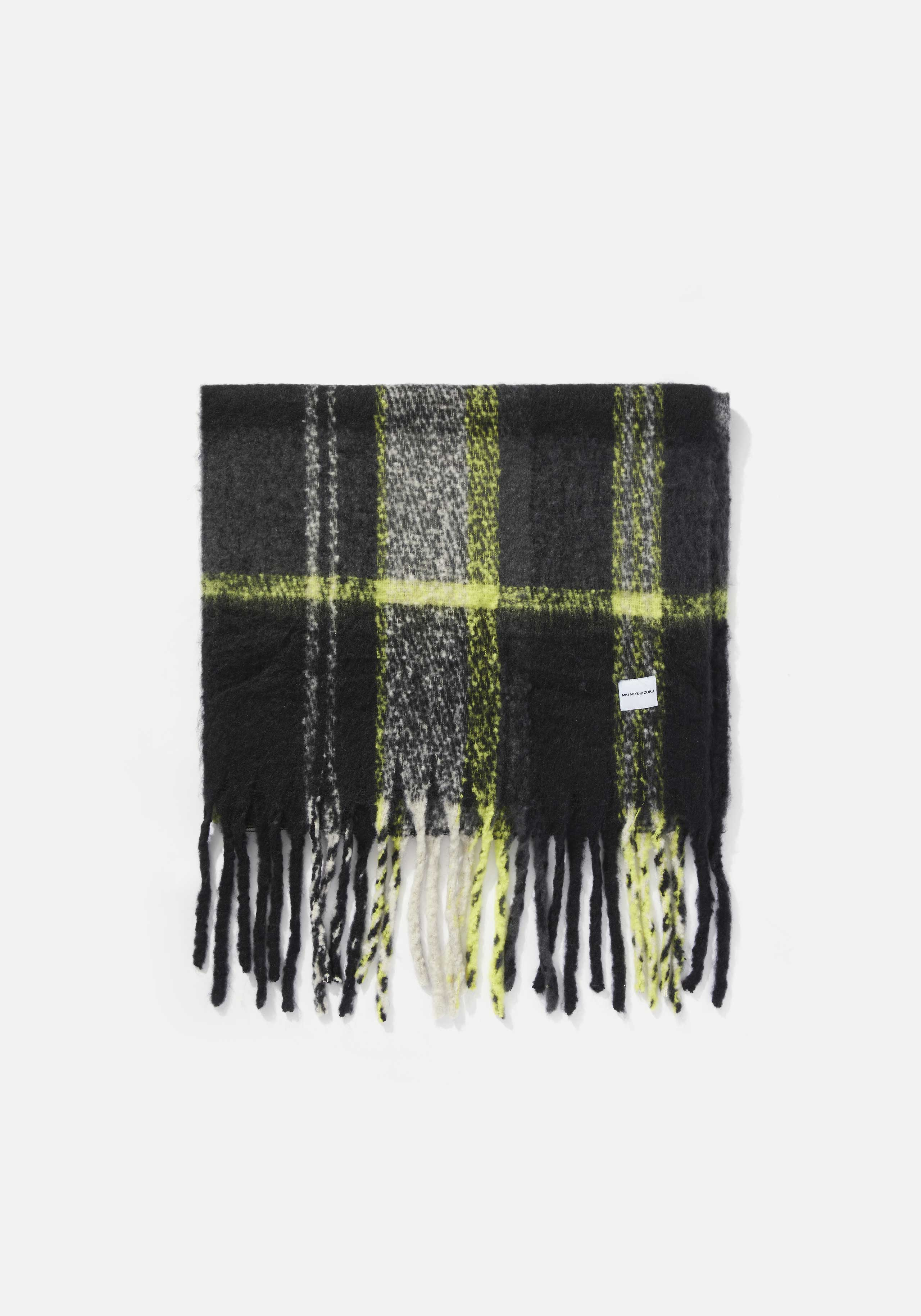 mki woven fringed scarf 2