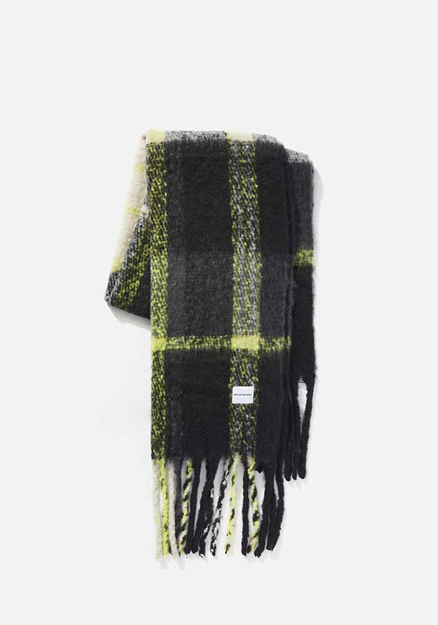 mki woven fringed scarf