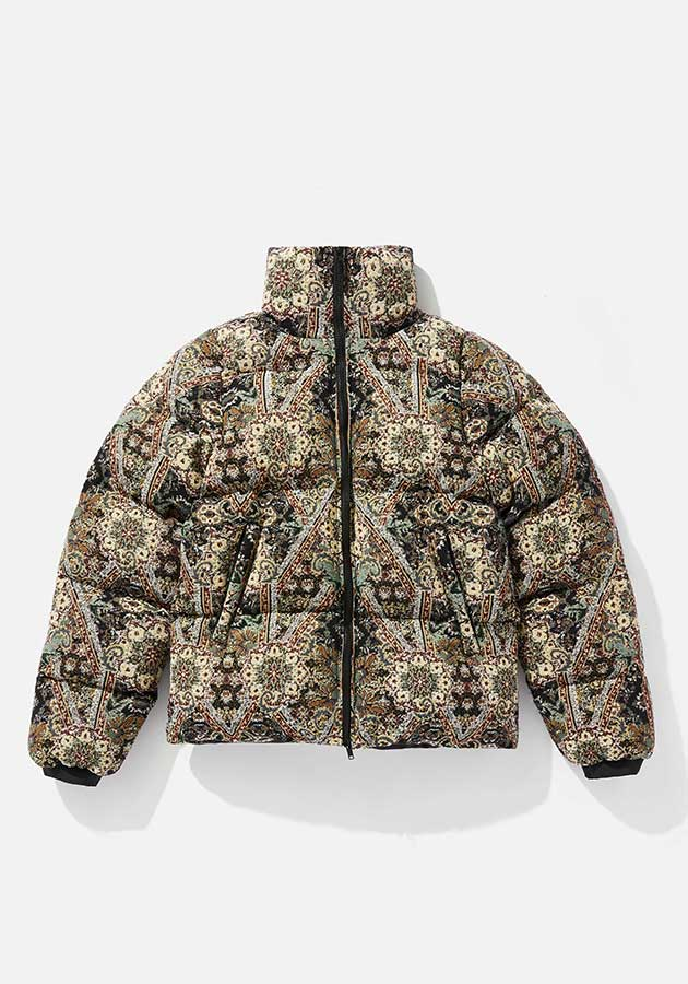 mki tapestry bubble jacket