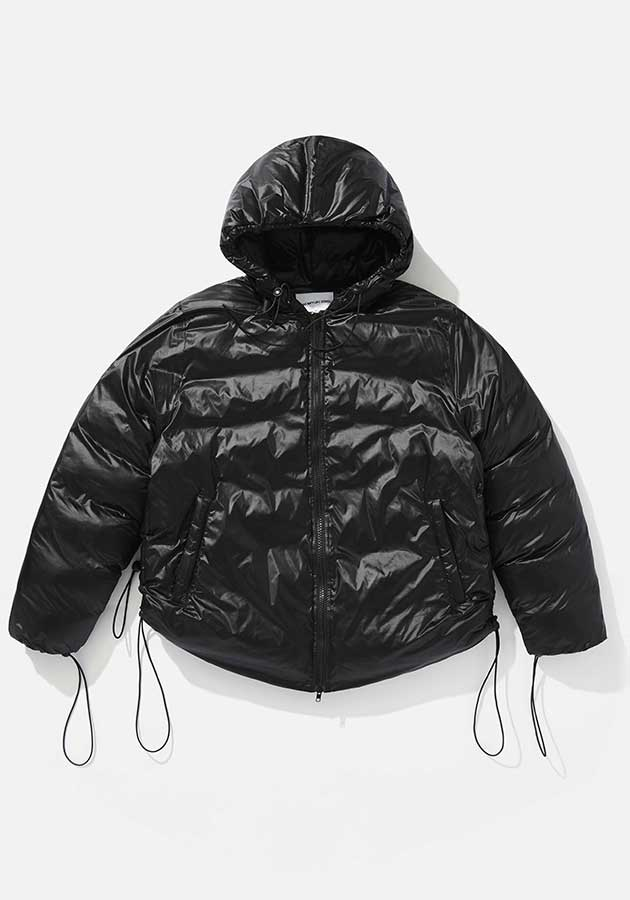 mki short hooded bubble jacket